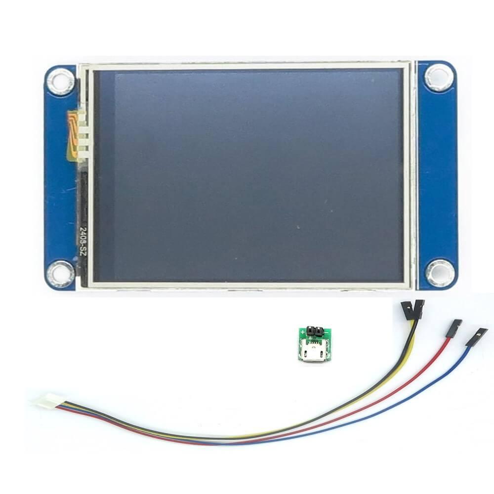 Nextion Enhanced NX4024K032 Version avanc/ée /Écran 3,2 pouces HMI Intelligent Smart USART S/érie Module Panneau tactile TFT LCD pour kit Raspberry Pi et Arduino